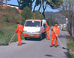 Barrido manual itinerante